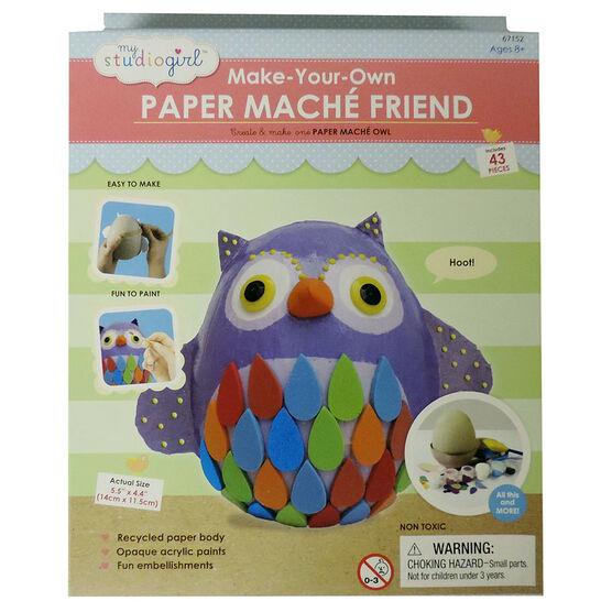My Studio Girl Make Your Own Paper Mache - Owl