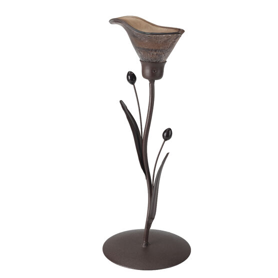 London Drugs Glass Lily Candle Holder - Single