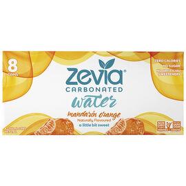 Zevia Carbonated Water - Mandarin Orange - 8 x 355ml