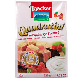 Loacker Quadratini - Raspberry-Yoghurt - 250g