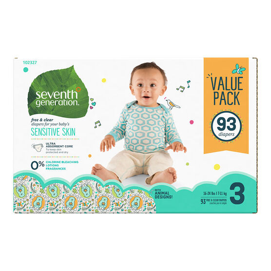 7th Generation Diapers - Stage 3 - 93s