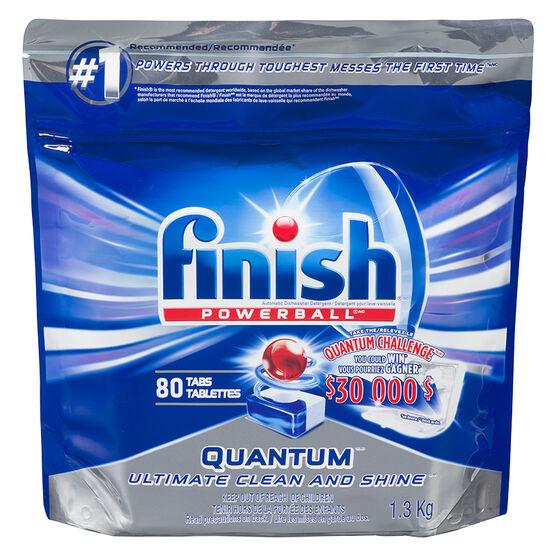 Finish Powerball Quantum Max Dishwasher Detergent - 80's