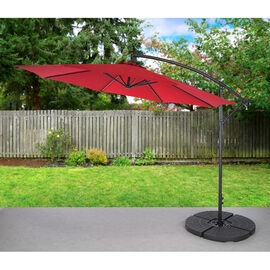 Bond Offset Cantilever Umbrella Set - Red - 10ft