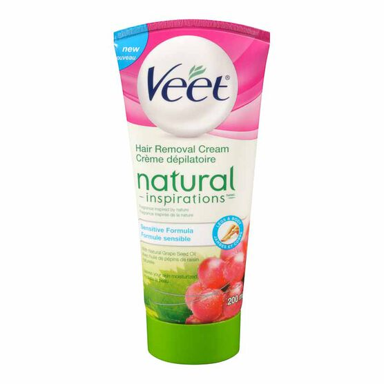 Veet Natural Inspirations Hair Removal Cream - Sensitive Formula - 200ml