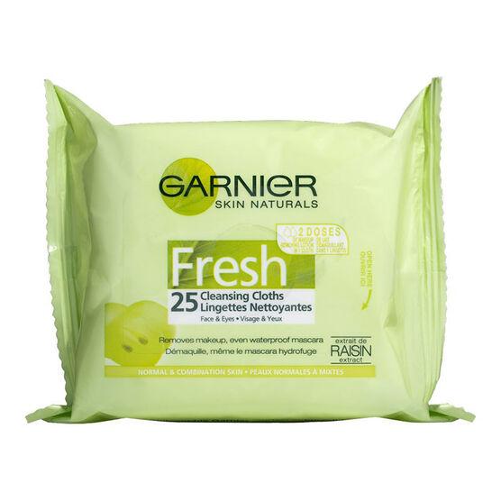 Garnier Skin Naturals Fresh Complete Cleansing Cloths - 25's