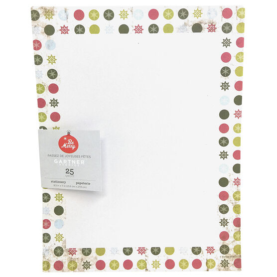 Gartner Christmas Holiday Stationery Printer Paper - Snowflake - 25 Sheets