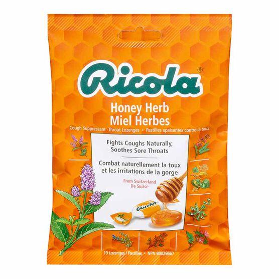 Ricola Cough Suppressant Throat Lozenges - Honey Herb - 75g