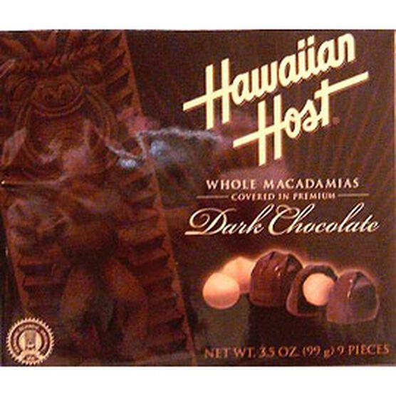 Hawaiian Host Dark Chocolate Macadamias - 99g