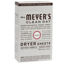 Mrs. Meyer's Dryer Sheets - Lavender - 80's