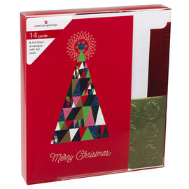 American Greetings Christmas Cards Premium - Graphic Icon - Assorted - 14 count