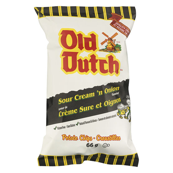 Old Dutch Sour Cream & Onion Chips - 66g