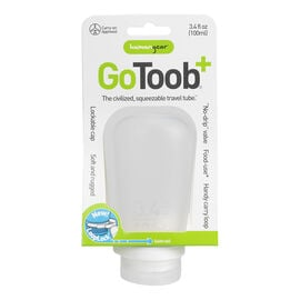 Go Toob+ Squeezable Travel Tube - Clear - 100ml