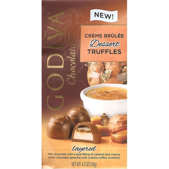 Godiva Dessert Truffles - Creme Brulee - 124g