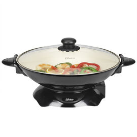 Oster DuraCeramic 4.5L Electric Wok - Black/White - CKSTWK99W-0