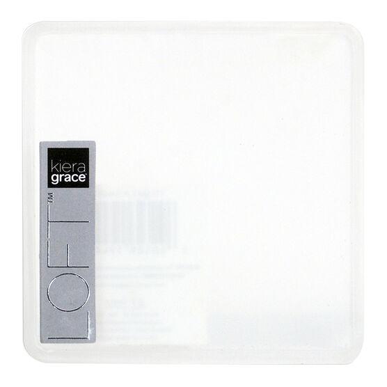 Kiera Grace Loft Glass Pillar Plate - Clear - 4inch