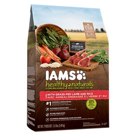 IAMS Healthy Naturals Adult Dry Dog Food - Lamb/Rice - 2.4kg