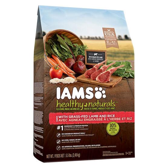 IAMS Healthy Naturals Adult Dry Dog Food - Lamb/Rice - 2.4kg