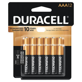 Duracell CopperTop AAA Batteries - 12 pack
