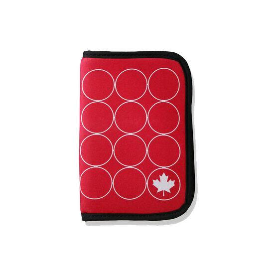 Orb RFID Blocking Passport Wallet - Maple Leaf - Red/White - WP500-RW
