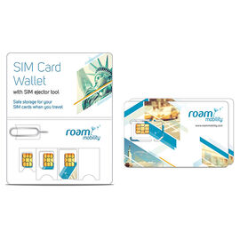 Roam Mobility 4G SIM Card 2-Pack with SIM Wallet - PKG #58200