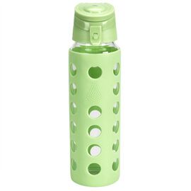 London Drugs Glass Sports Bottle with Silicone Sleeve - 700ml