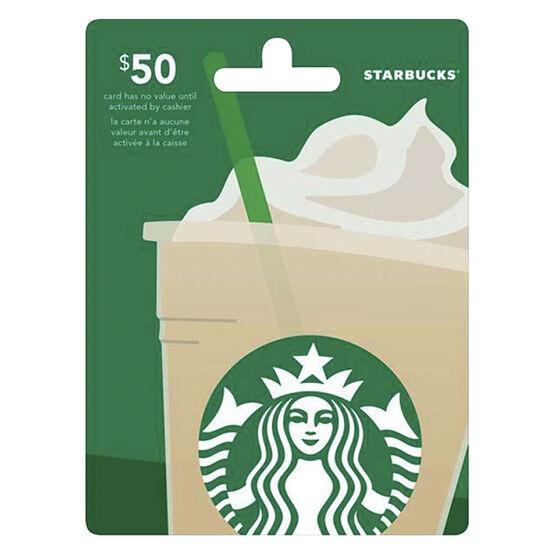 Starbucks Gift Card - $50