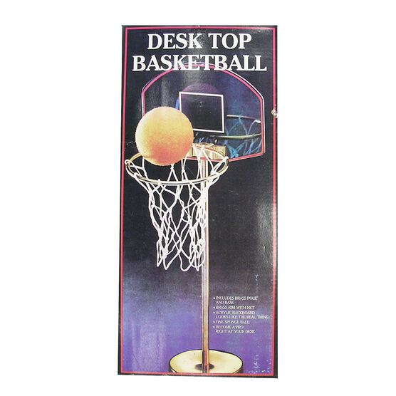 Brass Desktop Basketball with Stand