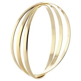 Dash of Gold Bangle Bracelet Set - Gold Tone