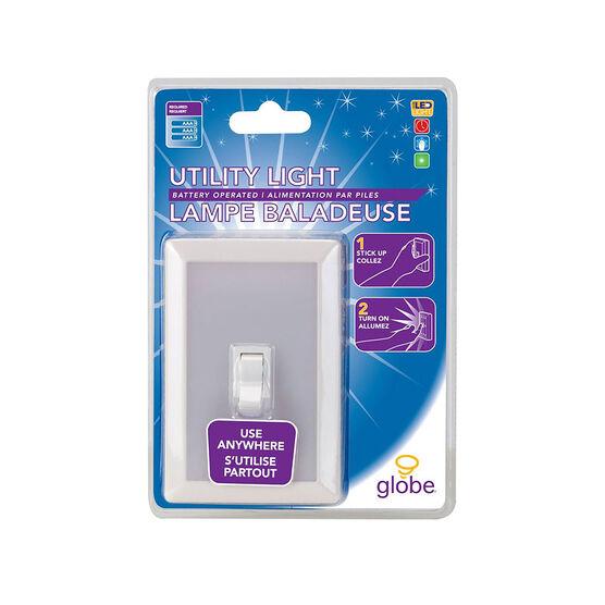 Globe Battery Operated LED Utility Light - White