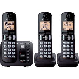 Panasonic 3 Handset Cordless Phone - Black - KXTGC223B