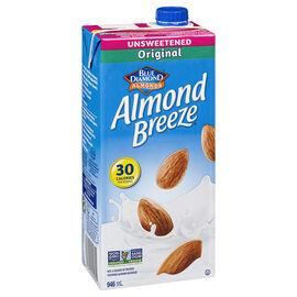 Blue Diamond Almond Breeze - Original - Unsweetened - 946ml