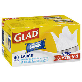 Glad Easy-tie Unscented Bags - 40's