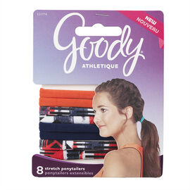 Goody Athletique Stretch Ponytailers - Assorted - 11374