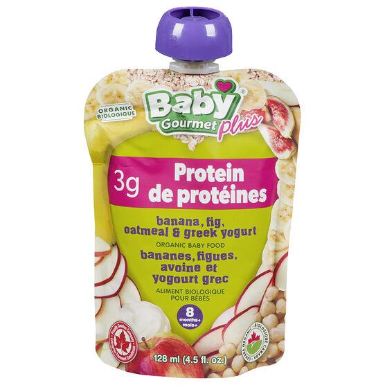 Baby Gourmet Baby Food - Banana, Apple, Fig, Oatmeal and Greek Yogurt - 128ml
