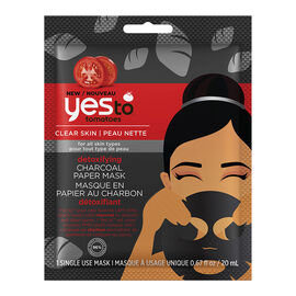 Yes To Tomatoes Detoxifying Charcoal Paper Mask - Single Use