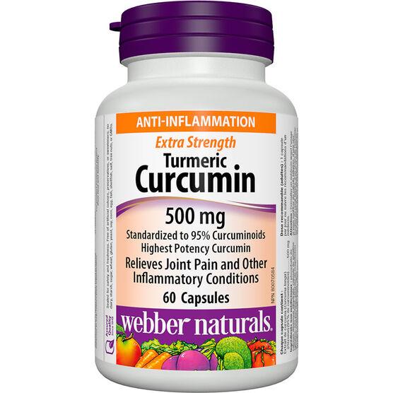 Webber Naturals Extra Strength Turmeric Curcumin - 500mg - 60's