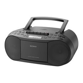 Sony CD/Cassette/AM/FM Boombox - Black - CFDS70BLK