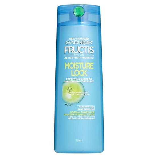Garnier Fructis Moisture Lock Shampoo - Dry to Normal - 370ml
