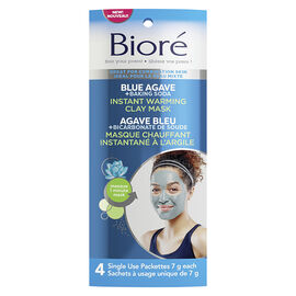 Biore Blue Agave + Baking Soda Instant Warming Clay Mask - 4's