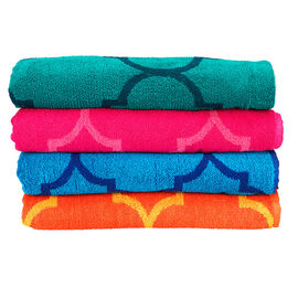 Boutique Jacquard Beach Towel - Assorted