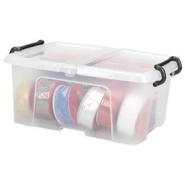 Strata Smart Storemaster Box with Folding Lid and Clip Handles - 12L
