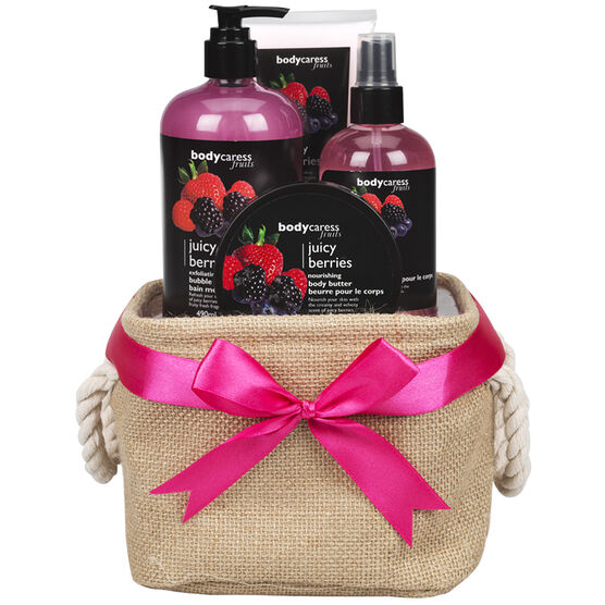 BodyCaress Fruits Gift Set - Juicy Berries - 4 piece