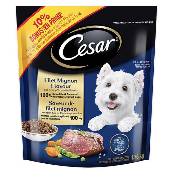Cesar Dry Dog Food - Filet Mignon and Spring Vegetables - 1.76kg