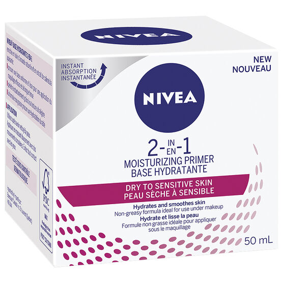Nivea 2 In 1 Moisturizing Primer - Dry to Sensitive - 50ml