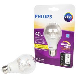 Philips A19 LED Lightbulb - Soft White - 6w/40w