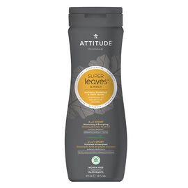 Attitude Super Leaves Science Natural Shampoo & Body Wash - 2 in 1 Sports - 473ml