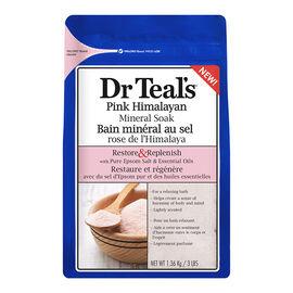 Dr Teal's Pink Himalayan Mineral Soak - Restore & Replenish - 1.36kg