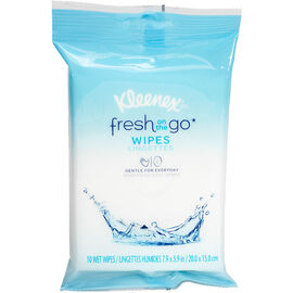 Kleenex Fresh On the Go Wipes - 10's