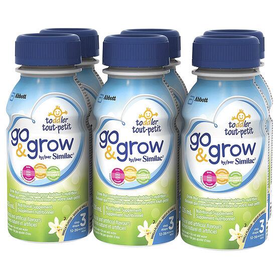 Similac Go & Grow Step 3 - Ready To Feed - Vanilla Flavour - 6 x 235ml - 66699848