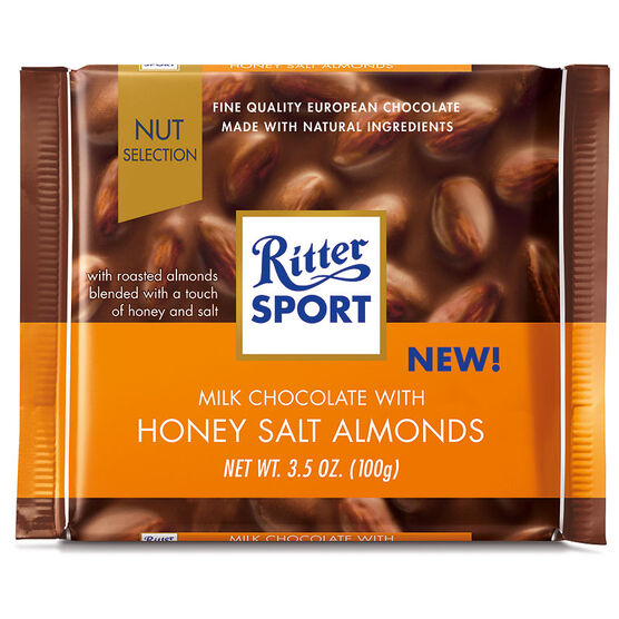 Ritter Sport - Milk Chocolate, Honey & Salted Almond - 100g